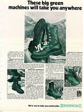 1973 Print Ad of Browning Boulder Vibrams Boots big green machines