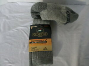 RedHead Men's 9-12  Merino Wool Blend Hunting Socks, 1 pair  Large