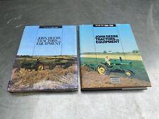 Vtg John Deere Books Tractors Equipment Volume 1 2 Lot  00006000 Parts Catalog Farm