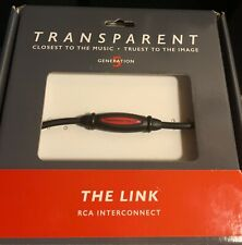 "Transparent Audio "" THE LINK "" RCA Interconnect 1.5M - Pair - BNIB"