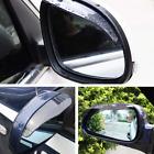 2x Black Car Rear View Side Mirror Rain Board Eyebrow Guard Sun Visor EOA