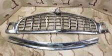 1955 Hudson Hornet Center Grille Upper Lower Trim Bumper Lit Emblem  55