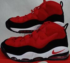 RARE SAMPLE New Mens 9 NIKE Air Max Uptempo RED Suede Shoes 311090-600