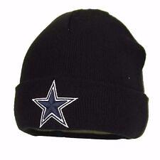 Dallas Cowboys NFL Basic Cuffed Winter Knit Beanie (Black Color)