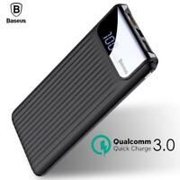 Quick Charge 3.0 Power Bank 10000mah Dual Usb Lcd  External Battery Mobile Phone