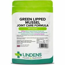 Green Lipped Mussel 500mg 360 Capsules -  Joint Pain Relief For Humans & Dogs