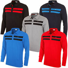 Long Sleeve Polo Striped Casual Shirts & Tops for Men