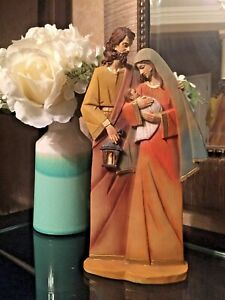 "10"" Holy Family Statue Joseph Baby Jesus Mary Catholic Religious. Piece of Art"