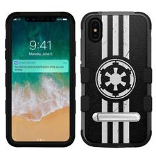 "for Apple iPhone Xs Max (6.5""), Hard+Rubber Rugged Case Star Wars Imperial #I"