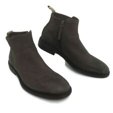 Mr. B's Men's Distressed Gray Leather Ankle Boot Side Zip Resoled EST. Sz 11