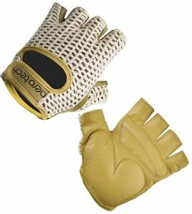 Aero Tech Designs Gel Padded Cycling Gloves Crotchet and Leather Biking Gloves