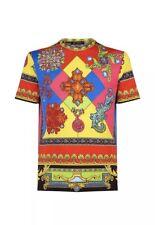 Versace Mens Printed Geometric T-shirt Size M. Slim Fit Medusa Baroque Gem Stone