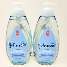 Lot of 2 Jumbo Bottles Johnsons Baby Bubble Bath No More Tears 27.1 fl oz ea