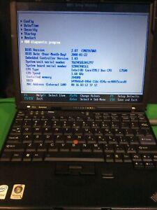 IBM LENOVO THINKPAD X61s LAPTOP  Intel L7500 2GB RAM NO HDD NO OS. + D. Station.