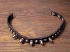 DOG COLLAR 5 SPIKED , 3 ADJUSTABLE  SIZE