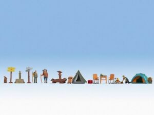 HO Scale people - 16201 - Themed Figures Set - Camping