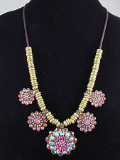 Betsey Johnson BOHO BETSEY Faceted Stone Cluster Adjustable Suede Necklace $125