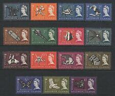 British Solomon Islands 1965 QEII Pre Decimal Values Set Mounted Mint