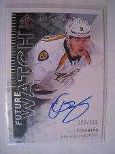 Filip Forsberg 2013-14 UD SP Authentic FUTURE WATCH AUTOGRAPH ROOKIE  #269