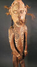 Expressive PNG Papua New Guinea Sepik Male Figure Statue Pacific Islands