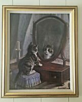 """Frank Paton FAIREST OF THEM ALL Canvas Wall Print Picture Cat Kitty 19.5x23.5"""""""
