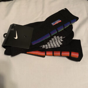 Nike NBA Authentics Team Socks Black With Rainbow Mid-calf All Star Game XL