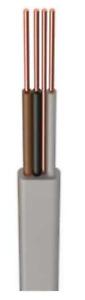 Prysmian H6243Y 1.0mm² PVC 3 Core & Earth Cable Grey Various Lengths 1m-30m