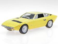 Maserati Khamsin 1973 yellow diecast modelcar in Vitrine 1:43
