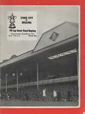 Mar 71 Stok City v Arsenal FAC semi final replay at Villa Park