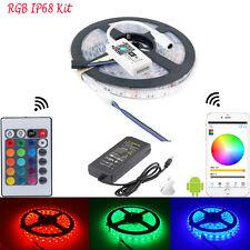 5050 IP68 impermeable del RGB LED luz tira RGB WIFI regulador 12V alimentación