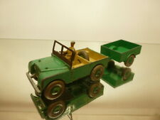 DINKY TOYS 340 + 341 LAND ROVER + TRAILER - GREEN 1:43? - GOOD CONDITION