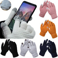 Womens Mens Winter Snow Gloves Sleeve Warmer Warm Thick Knit Thermal Touchscreen