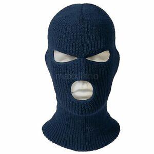 Face Mask Ski Mask Winter Cap 3 Hole Balaclava Beanie Hat Hood Tactical Warm Men
