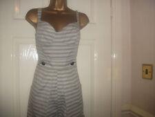 Cotton Striped Strappy, Spaghetti Strap Women's Jumpsuits & Playsuits