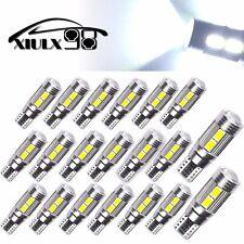 20x T10 White 194 W5W 5630 LED 10SMD Canbus Error Free Car Side Wedge Light Bulb