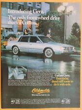 Oldsmobile Cutlass Ciera Magazine Print Ad 1982