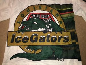 ECHL LOUISIANA ICE GATORS HOCKEY JERSEY, MADE IN USA OT SPORTS , SWAMP THEME