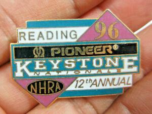 1996 NHRA 12th Annual Keystone Nationals Pioneer Reading Hot Rod Drag Racing Pin