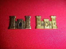 Set Of 2 US Army ENGINEER CORPS Metal Emblems With Flat Backs