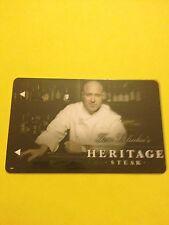"Mirage Casino Hotel Room Key Card ""Tom Colicchio's Heritage Steak"" Las Vegas, NV"