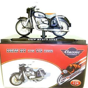 DKW RT175 1952 Motorcycle Classic Atlas 4658120 New 1:24 Boxed HQ3 Μ