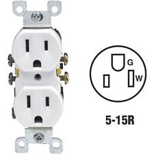 200-Leviton 15A White Shallow 2 Pole 3 Wire Grounded Duplex Outlet 212-05320-WCP