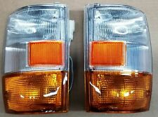New Pair Isuzu Truck Elf Npr Nqr 450 Gmc Chevrolet Corner Lamp Amber 99-06