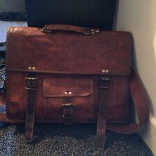 NEW Mens Satchel Genuine Leather Vintage Laptop Messenger Handmade Briefcase Bag