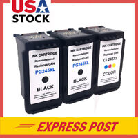 3 Pack PG-245XL Black & CL-246XL Color Ink for Canon PIXMA iP2820 MG2420 MX492