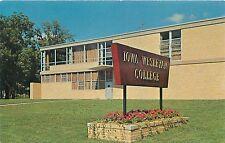 MOUNT PLEASANT IA IOWA WESLEYAN COLLEGE HOLLAND STUDENT UNION POSTCARD 1960s