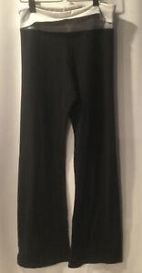 Hard Tail Forever Boot Flare Pant Rolldown Yoga Boho Size  Black