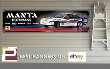 Opel Manta Group B Rally Car Logo Banner for Workshop / Garage, 1300mm x 320mm