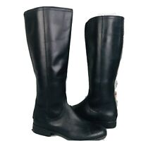 Frye and Co. Womens Jolie Back Zip Black Leather Knee-High Boots 7.5 M ~ NWOB
