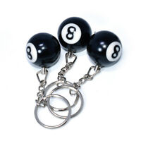 New Black 8 Billiard Ball Key Chain Bag Accessories Keyring Car Key Holder G